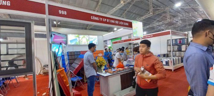 công ty Vật Liệu Xanh Tham gia hội trợ triển lãm VietBuild 2021