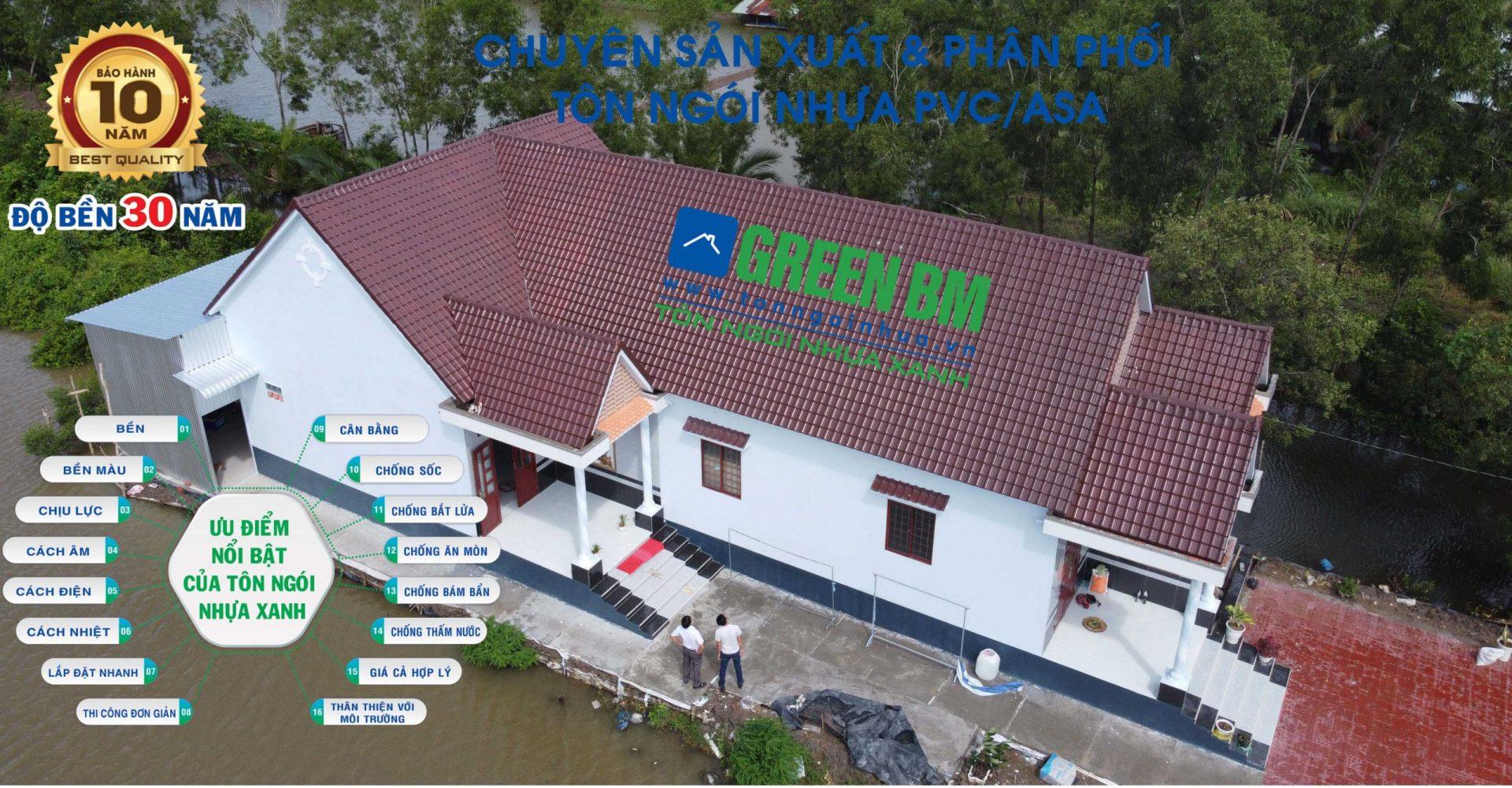Tư vấn và hướng dẫn của tôn ngói nhựa xanh green bm